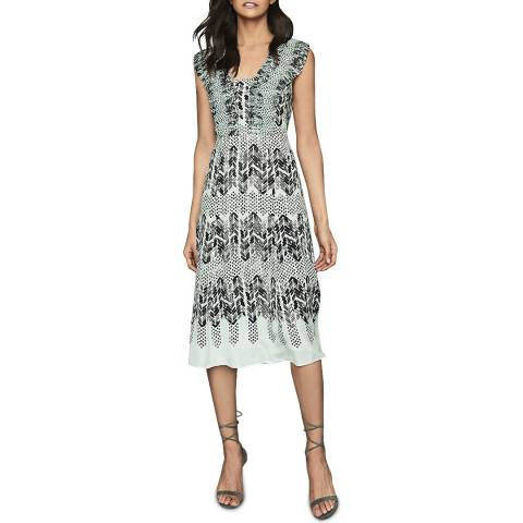 Reiss Multi Avery Arrow Print Dress