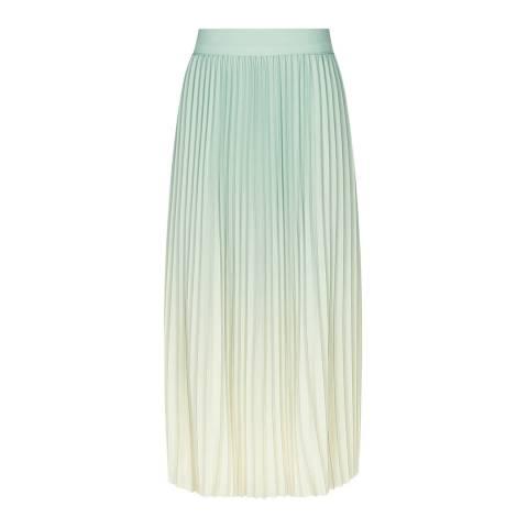 Reiss Blue Ombre Mila Pleated Skirt