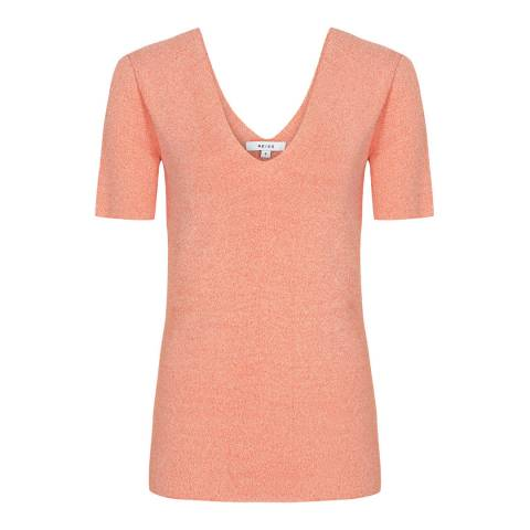Reiss Coral Ada V-Neck T-Shirt