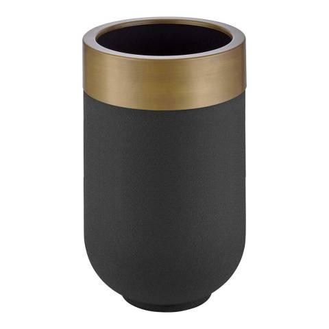 Vivense Zer Large Plant Pot, Black & Antique Gold