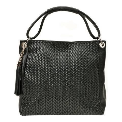Luisa Vannini Black Leather Shoulder Bag