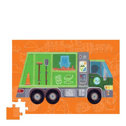 Crocodile Creek 48 Piece Recycle Truck Vehicle Puzzle