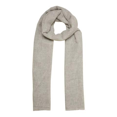 N°· Eleven Grey Cashmere Fine Knit Pashmina