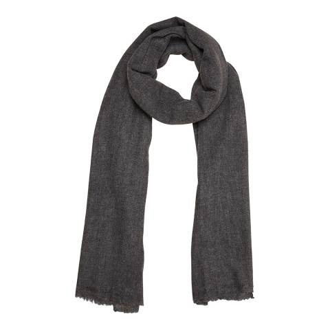 N°· Eleven Charcoal Cashmere Fine Knit Pashmina