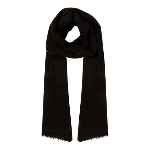 N°· Eleven Black Cashmere Fine Knit Pashmina