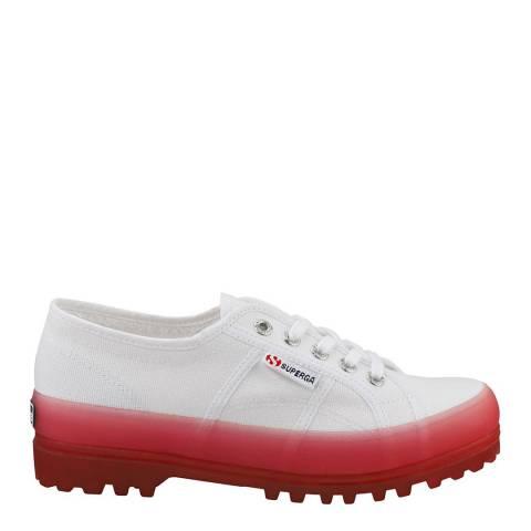Superga White Pink 2555 Alpina Jelly Gum Sole Trainers