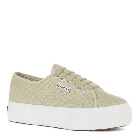 Superga Taupe 2790 Acot Linea Up and Down Canvas Trainers