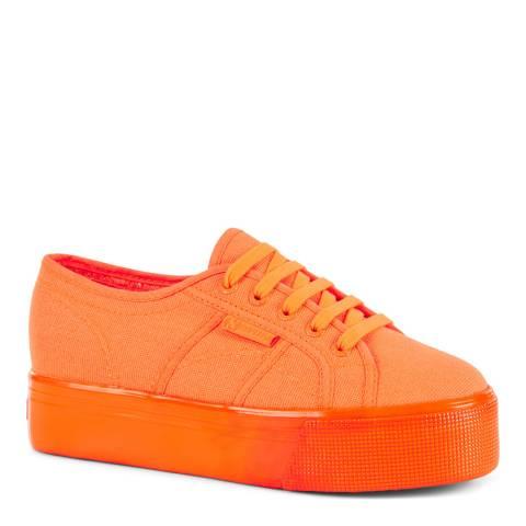 Superga Total Orange Fluorecent 2790 Platform Trainers