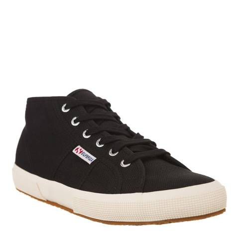 Superga Black 2754 Mid Top Trainers