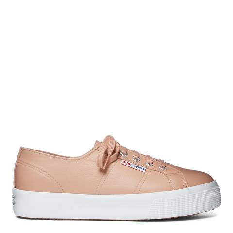 Superga Brown Light Copper 2730 Nappa Leather Trainers