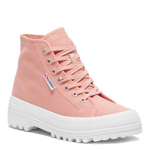 Superga Pink Smoke 2341 Cotu Alpina Hi Top Boot Trainers