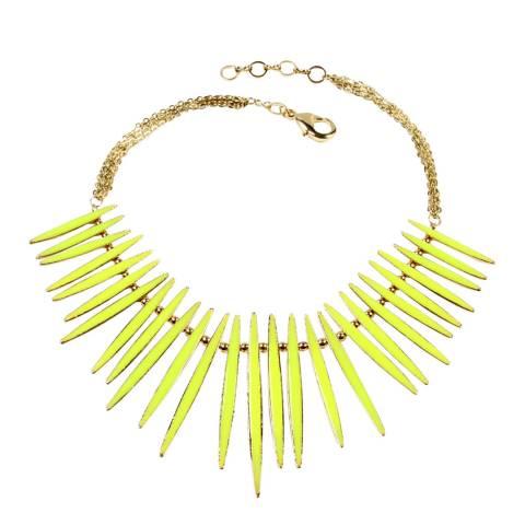 Amrita Singh Yellow Reversible Moma Necklace