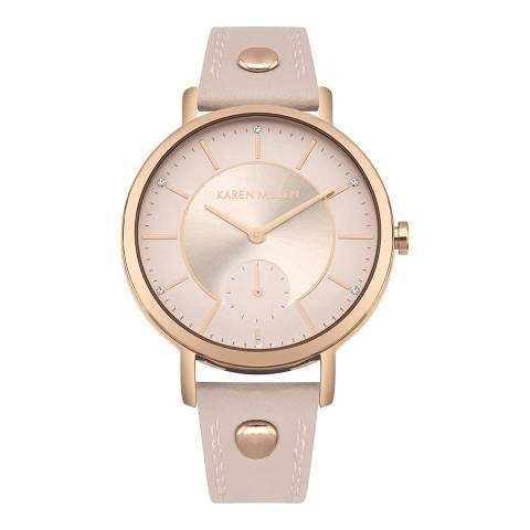 Karen Millen Blush & Rose Gold Watch