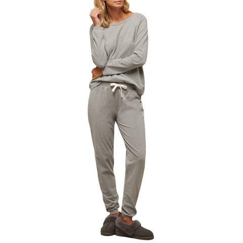 N°· Eleven Grey Marl Cotton Jersey Lounge Set