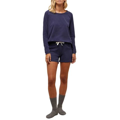 N°· Eleven Blue Marl Cotton Jersey Short Set