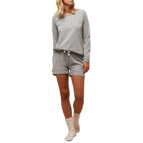 N°· Eleven Grey Marl Cotton Jersey Short Set