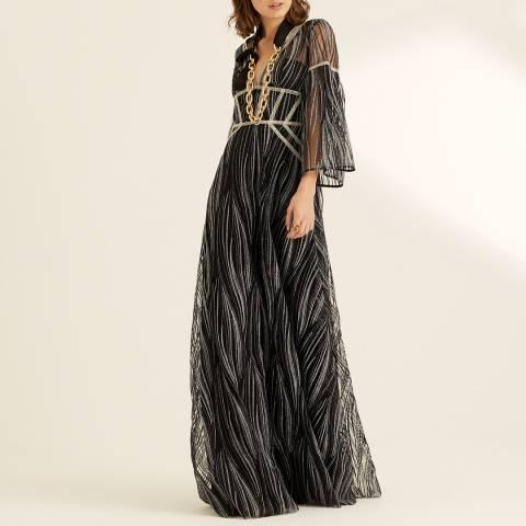 Amanda Wakeley Navy Long Sleeve Maxi Dress