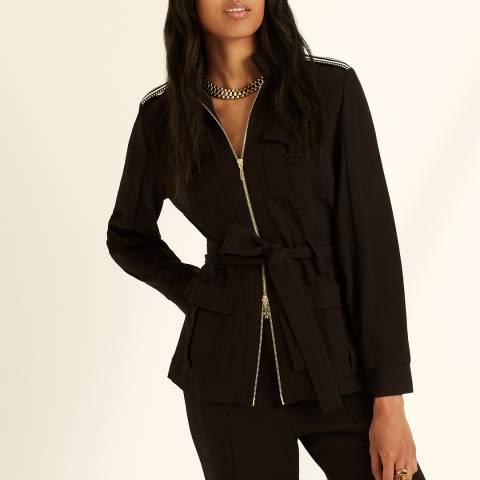 Amanda Wakeley Dark Brown Tailored Belted Jacket