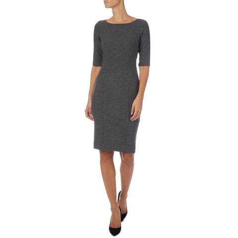Amanda Wakeley Charcoal Sculpted Shift Felted Dress