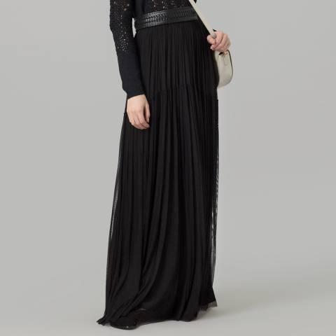 Amanda Wakeley Black Silk Tulle Skirt