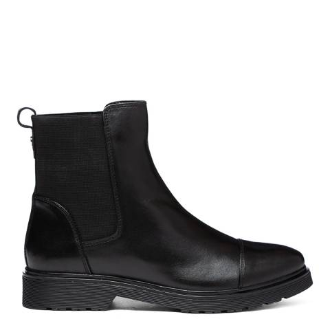 Dune London Black Leather Paysan Chelsea Boots