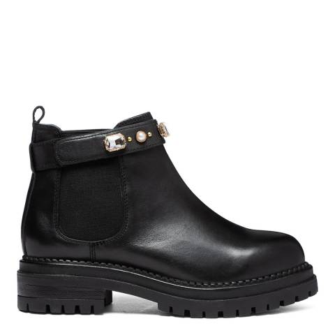 Dune London Black Playing Chunky Boots