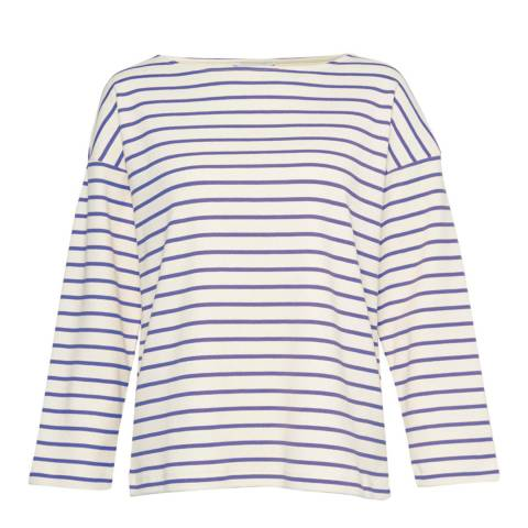 Great Plains Navy/Red Monroe Striped Top