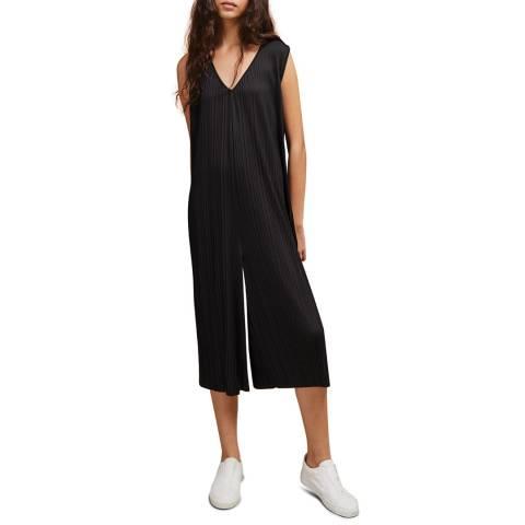 Great Plains Black Paola Pleat Jumpsuit