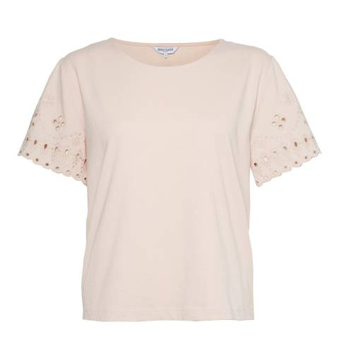 Great Plains Rose Bali Embroidery Jersey Top