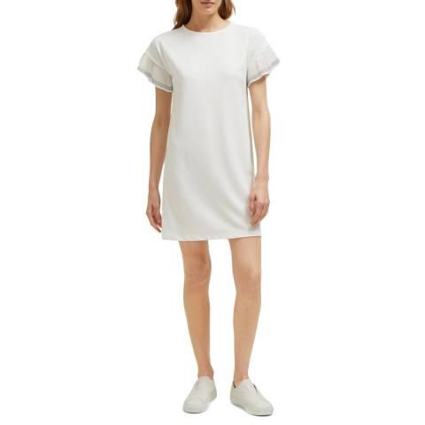 Great Plains White Samia Short Sleeve Jersey Dress