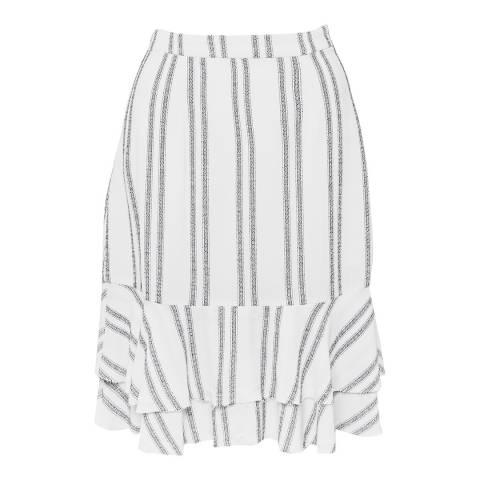 Great Plains White/Navy Sahara Striped Midi Skirt