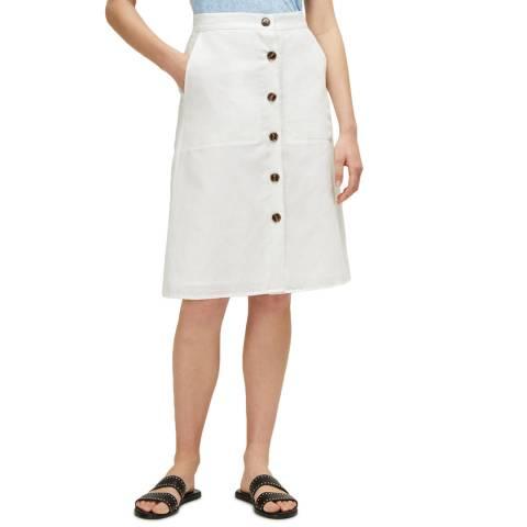 Great Plains White Dana Blend Buttoned Skirt