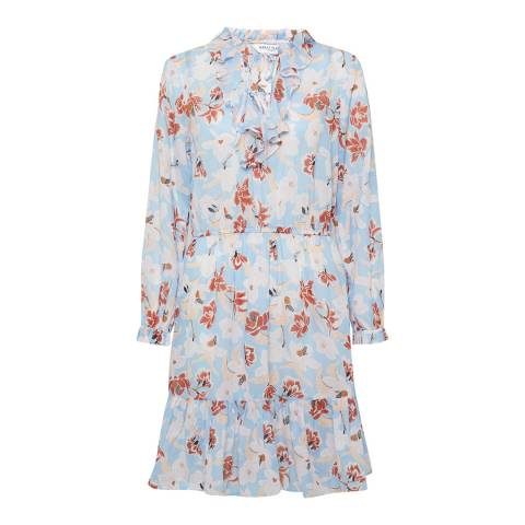 Great Plains Blue Tulum Floral Dress