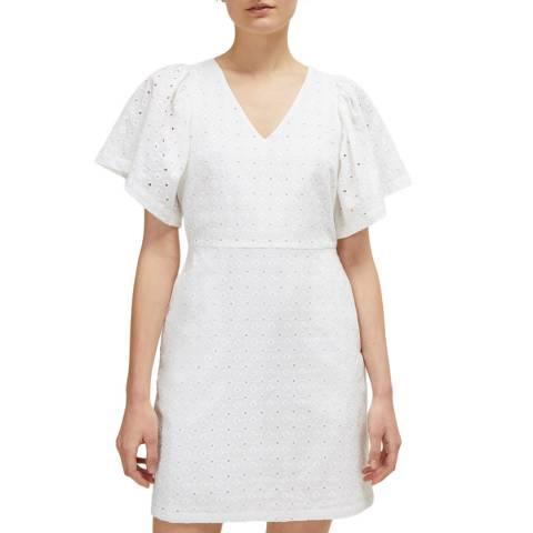 Great Plains White Morro Flower Short Sleeve Dress