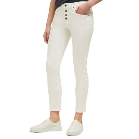 Great Plains White Buttoned Skinny Jean