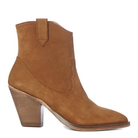 AllSaints Tan Suede Rolene Ankle Boots