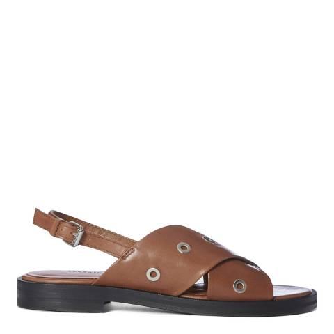 AllSaints Tan Kiona Strappy Leather Sandals