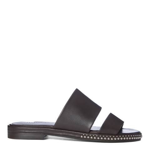 AllSaints Brown Leather Matiala Sandals