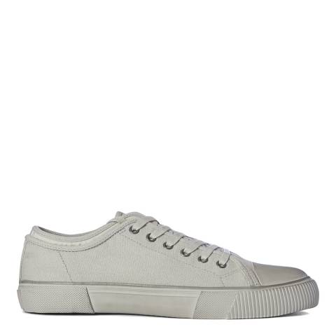 AllSaints Chalk Rigg Canvas Low Top Trainers