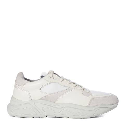 AllSaints White Verge Leather Runner Trainers