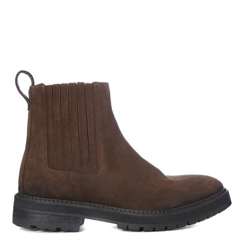 AllSaints Bitter Chocolate Noble Suede Chelsea Boots