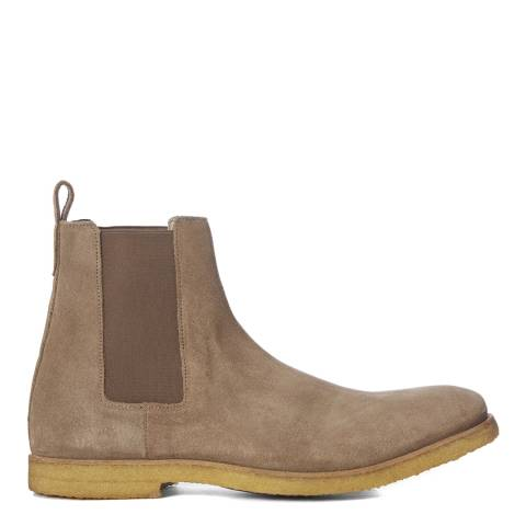 AllSaints Taupe Suede Reiner Chelsea Boots