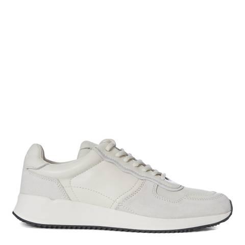 AllSaints Chalk White Nappa Suede Elisa Sneakers