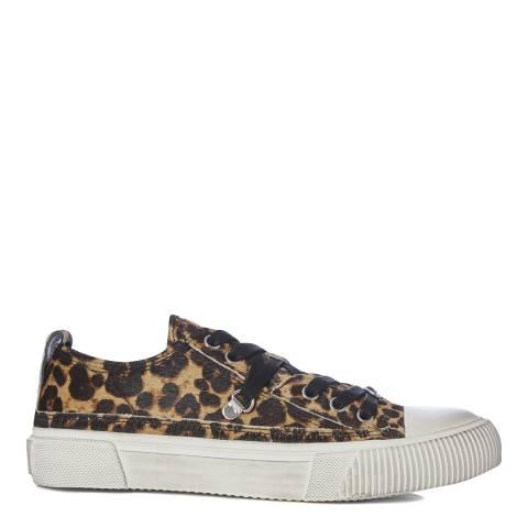 AllSaints Leopard Calf Hair Jazmin Low Top Sneakers