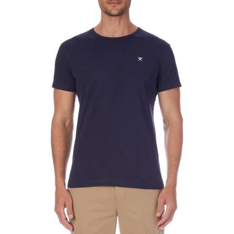 Hackett London Navy Logo Cotton T-Shirt