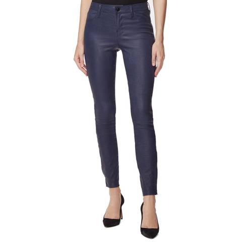 J Brand Navy L8001 Skinny Leather Trousers