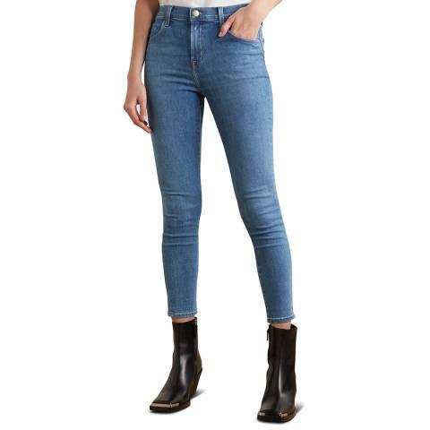 J Brand Mid Blue Alana Cropped Skinny Stretch Jeans