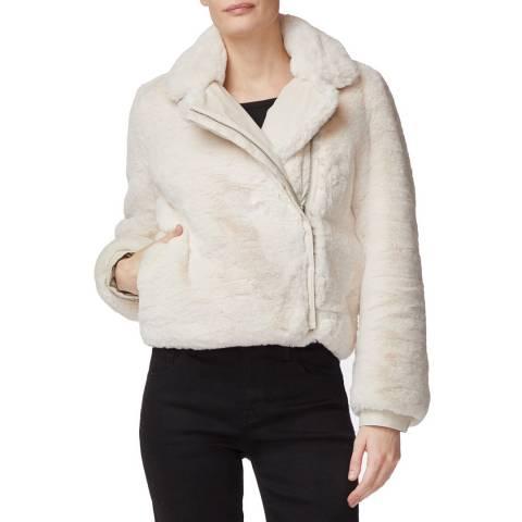 J Brand Cream Isleen Faux Fur Jacket