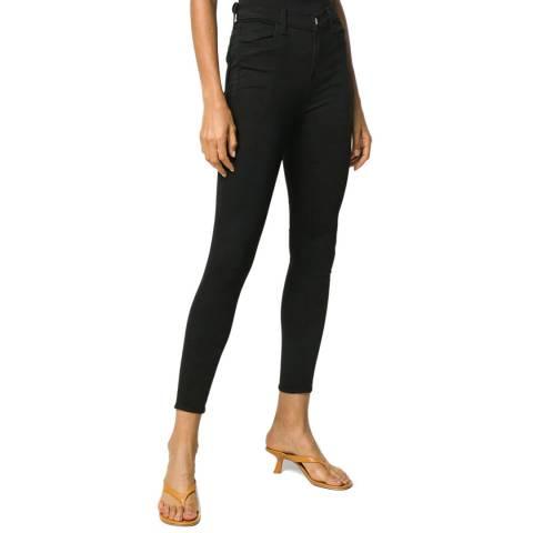 J Brand Black Alana Cropped Skinny Stretch Jeans