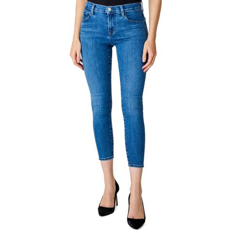 J Brand Mid Blue 835 Cropped Skinny Stretch Jeans
